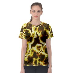 Abstract Pattern Women s Sport Mesh Tee
