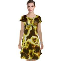 Abstract Pattern Cap Sleeve Nightdress
