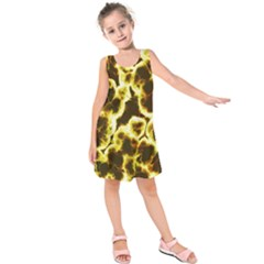 Abstract Pattern Kids  Sleeveless Dress
