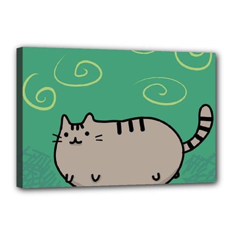 Fat Cat Canvas 18  X 12