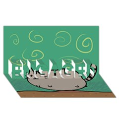 Fat Cat Engaged 3d Greeting Card (8x4)