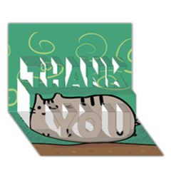 Fat Cat THANK YOU 3D Greeting Card (7x5)