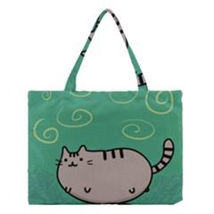 Fat Cat Medium Tote Bag