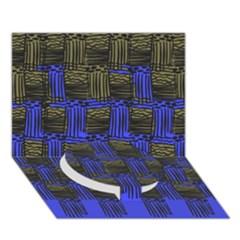 Basket Weave Circle Bottom 3d Greeting Card (7x5)