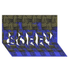 Basket Weave Sorry 3d Greeting Card (8x4)