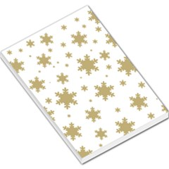 Gold Snow Flakes Snow Flake Pattern Large Memo Pads