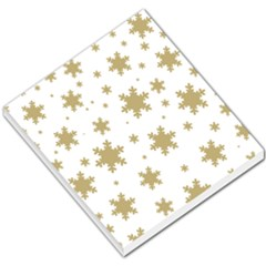 Gold Snow Flakes Snow Flake Pattern Small Memo Pads