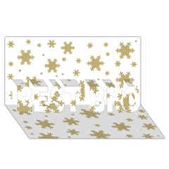 Gold Snow Flakes Snow Flake Pattern Best Bro 3d Greeting Card (8x4)