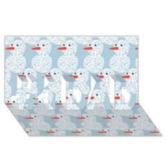 Christmas Wrapping Papers #1 Dad 3d Greeting Card (8x4)
