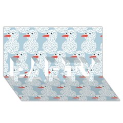 Christmas Wrapping Papers Party 3d Greeting Card (8x4)