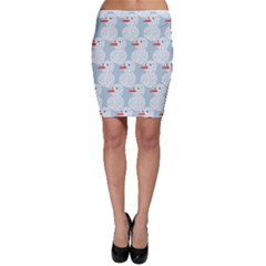 Christmas Wrapping Papers Bodycon Skirt