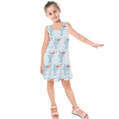 Christmas Wrapping Papers Kids  Sleeveless Dress