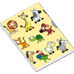Group Of Animals Graphic Large Memo Pads