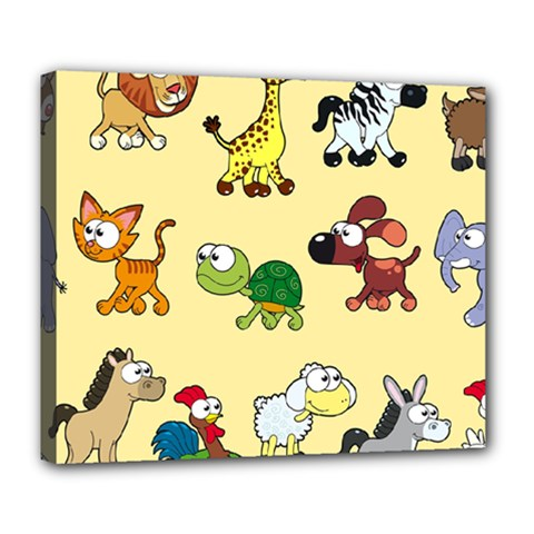 Group Of Animals Graphic Deluxe Canvas 24  X 20