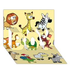 Group Of Animals Graphic BOY 3D Greeting Card (7x5)