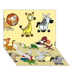 Group Of Animals Graphic Love Bottom 3d Greeting Card (7x5)