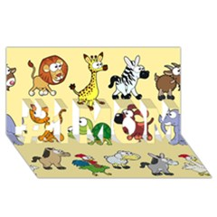 Group Of Animals Graphic #1 Mom 3d Greeting Cards (8x4)