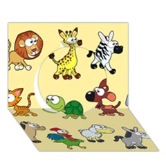 Group Of Animals Graphic Circle 3d Greeting Card (7x5)