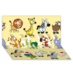 Group Of Animals Graphic SORRY 3D Greeting Card (8x4)