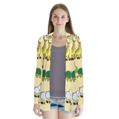 Group Of Animals Graphic Cardigans