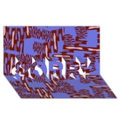 Ikat Sticks Sorry 3d Greeting Card (8x4)