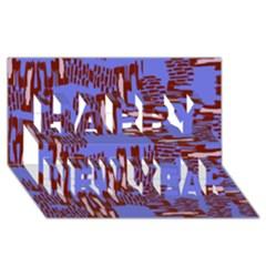 Ikat Sticks Happy New Year 3d Greeting Card (8x4)