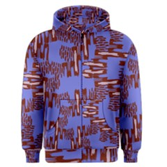 Ikat Sticks Men s Zipper Hoodie