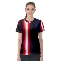 Lights Pattern Women s Sport Mesh Tee