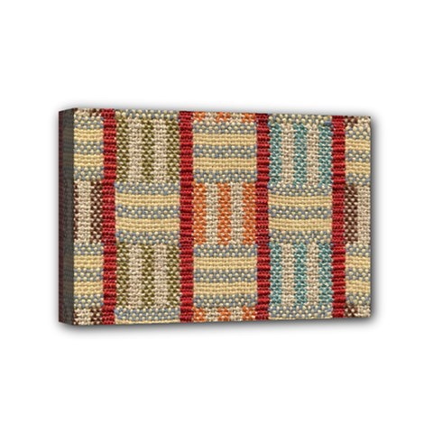 Fabric Pattern Mini Canvas 6  X 4