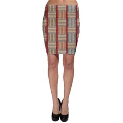 Fabric Pattern Bodycon Skirt