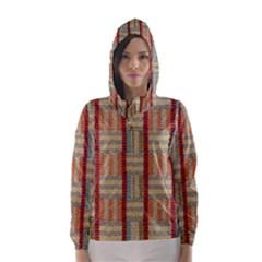 Fabric Pattern Hooded Wind Breaker (women)
