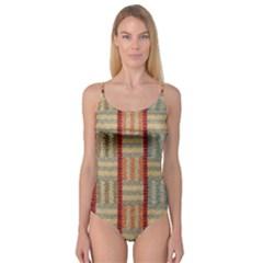 Fabric Pattern Camisole Leotard