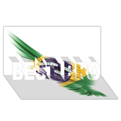 Flag Of Brazil Best Bro 3d Greeting Card (8x4)