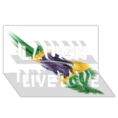 Flag Of Brazil Laugh Live Love 3d Greeting Card (8x4)