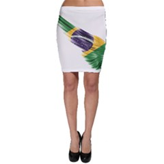 Flag Of Brazil Bodycon Skirt