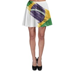 Flag Of Brazil Skater Skirt
