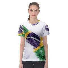 Flag Of Brazil Women s Sport Mesh Tee