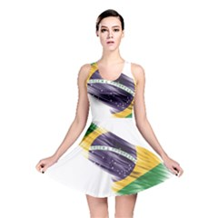 Flag Of Brazil Reversible Skater Dress