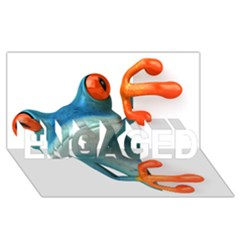 Tree Frog Illustration Engaged 3d Greeting Card (8x4)