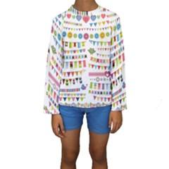 Owl Pattern Kids  Long Sleeve Swimwear