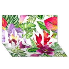 Vector Pattern Tropical MOM 3D Greeting Card (8x4)