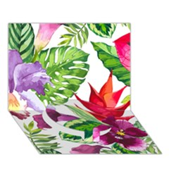 Vector Pattern Tropical Circle Bottom 3d Greeting Card (7x5)