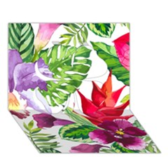 Vector Pattern Tropical Clover 3d Greeting Card (7x5)