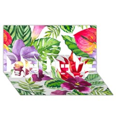 Vector Pattern Tropical Believe 3d Greeting Card (8x4)