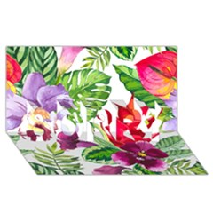 Vector Pattern Tropical Sorry 3d Greeting Card (8x4)