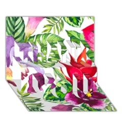 Vector Pattern Tropical Thank You 3d Greeting Card (7x5)
