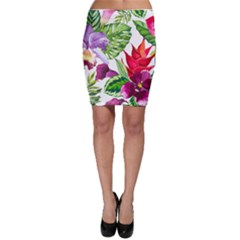 Vector Pattern Tropical Bodycon Skirt