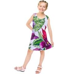 Vector Pattern Tropical Kids  Tunic Dress