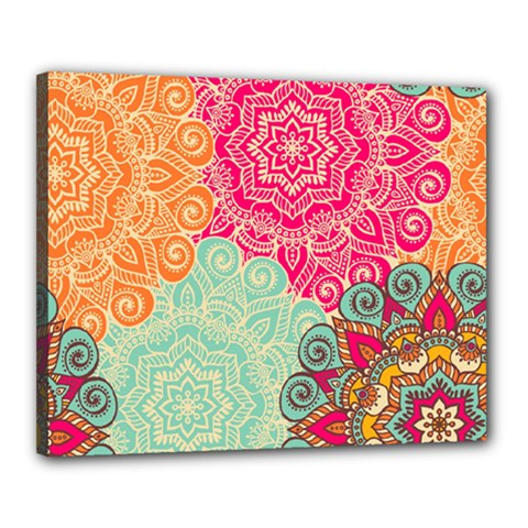Art Abstract Pattern Canvas 20  X 16