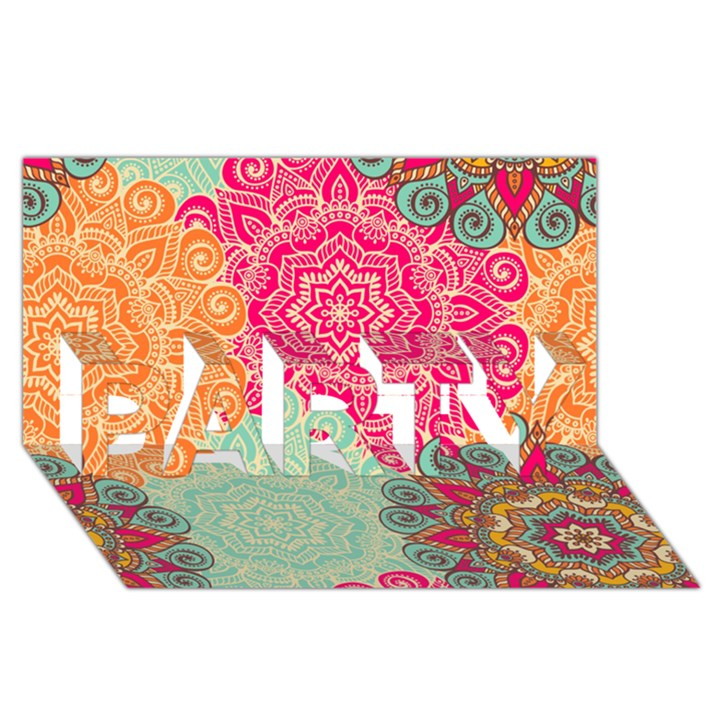 Art Abstract Pattern PARTY 3D Greeting Card (8x4)